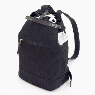 Suolo(スオーロ)NAPPASAC ブラック×ブラックレザー(9号パラフィン帆布バッグ)