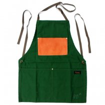 Napron(ナプロン)AP-06 LEATHER POCKET APRON グリーン