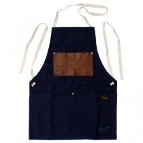 Napron(ナプロン)AP-06 LEATHER POCKET APRON ネイビー
