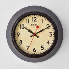 イギリスSmiths Clocks(スミスクロック)レトロウォールクロック(壁掛け時計)ブラウン