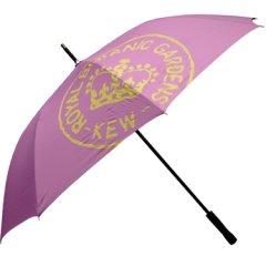 (完売御礼)イギリスKew Royal Botanic Gardens(キュー王立植物園/キューガーデン)特大アンブレラ(傘)|パープル