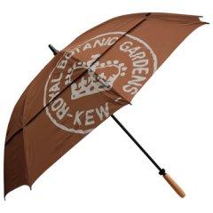 (完売御礼)イギリスKew Royal Botanic Gardens(キュー王立植物園/キューガーデン)特大アンブレラ(傘)|ブラウン