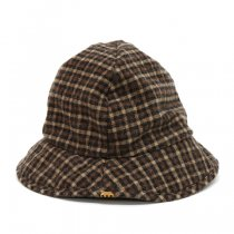 DECHO(デコー)DELTA HAT FLANNEL CHECK ブラウン