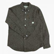 SASSAFRAS(ササフラス)Green Thumb Shirt ヘザーグレー(ヘリンボーン)M