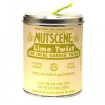 イギリスNutscene(ナッツシーン)缶入り麻ひもスプール150m|ライムグリーン