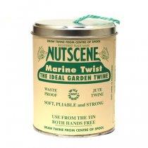 イギリスNutscene(ナッツシーン)缶入り麻ひもスプール150m|マリンブルー