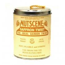 イギリスNutscene(ナッツシーン)缶入り麻ひもスプール150m|サフランイエロー