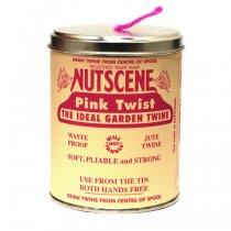 イギリスNutscene(ナッツシーン)缶入り麻ひもスプール150m|ピンク