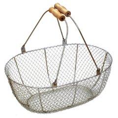 メタルワイヤーバスケット(収穫かご)Lサイズ