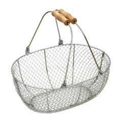 メタルワイヤーバスケット(収穫かご)Mサイズ