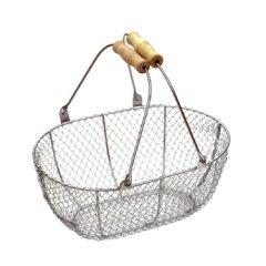 メタルワイヤーバスケット(収穫かご)Sサイズ