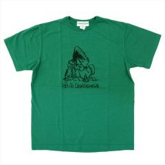 SASSAFRAS(ササフラス)HE IS GARDENER T(Tシャツ) グリーン