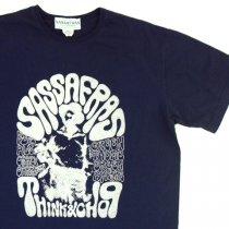 SASSAFRAS(ササフラス)SCOOP MAN POSTER T(Tシャツ) ネイビー