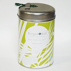 イギリスBurgon & Ball(バーゴン&ボール)缶入り麻ひも|ソフトグリーン