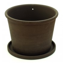 the place(ザプレイス)HASAMI POTTERY FLOWER POT 黒L(植木鉢)