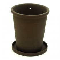 the place(ザプレイス)HASAMI POTTERY FLOWER POT 黒TALL(植木鉢)