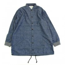 Senelier(セネリエ)PARIS 59 rivoli squater SQUATERS SHIRTS シャンブレー(ブルー)