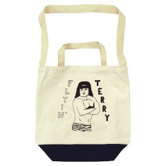 TACOMA FUJI RECORDS(タコマフジレコード)FLYUNG TERRY TOTE by Tomoo Gokita
