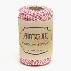 イギリスNutscene(ナッツシーン)キャンディーツイスト(コットン)ピンク/ホワイト