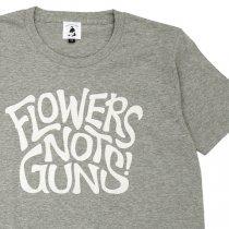 FLOWERS NOT GUNS!(フラワーズノットガンズ)サイケデリックロゴTシャツ|ヘザーグレー