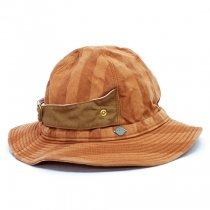 DECHO(デコー)HUNTER HAT ブラウン(PASSAGE STRIPE)