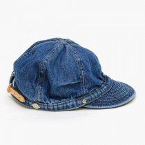 DECHO(デコー)TUCK KOME CAP(シルケットデニム)ウォッシュドインディゴ