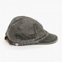 DECHO(デコー)TUCK KOME CAP(シルケットデニム)ウォッシュドブラック