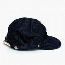DECHO(デコー)TUCK KOME CAP(シルケットデニム)インディゴ