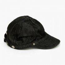 DECHO(デコー)TUCK KOME CAP(シルケットデニム)ブラック