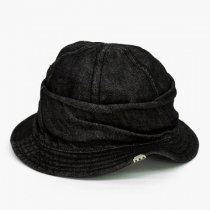 DECHO(デコー)MOUNTAIN HAT(シルケットデニム)ブラック