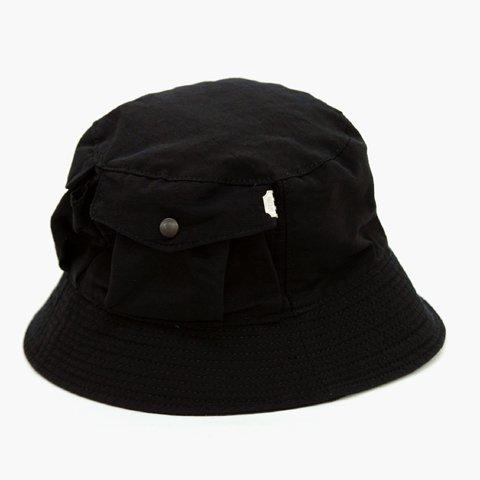 DECHO(デコー))BUCKET HAT 64 ブラック(60 40クロス) - LIFETIME 3a9a2780e49