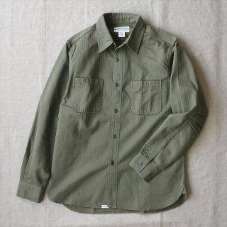 SASSAFRAS(ササフラス)Sprayer Shirt オリーブ(ヘリンボーン)