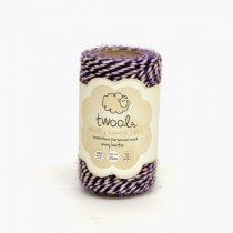 Twool(トゥウール)Bakers 35m(羊毛)snowy heather(パープル/ホワイト)