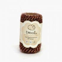 Twool(トゥウール)Bakers 35m(羊毛)wild dartmoor(ネイビー/レッド/ベージュ)