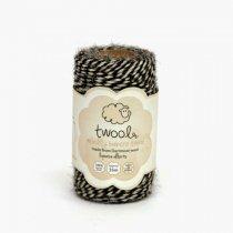 Twool(トゥウール)Bakers 35m(羊毛)Liquorice allsorts(ブラック/ホワイト)