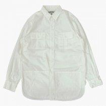 SASSAFRAS(ササフラス)Botanical Scout Apron Shirt ホワイト(タイプライター)