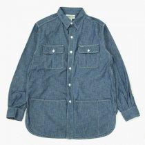 SASSAFRAS(ササフラス)Botanical Scout Apron Shirt ブルー(5ozシャンブレー)