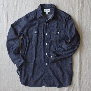 SASSAFRAS(ササフラス)Botanical Scout Apron Shirt インディゴ(6.5ozオーガニックデニム)