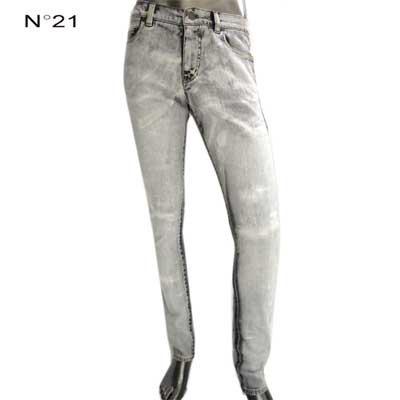 ヌメロヴェントゥーノ(N°21) メンズ ボトムス ウォッシュ加工デニムパンツ ライトグレー 2201 0617 9000  81A