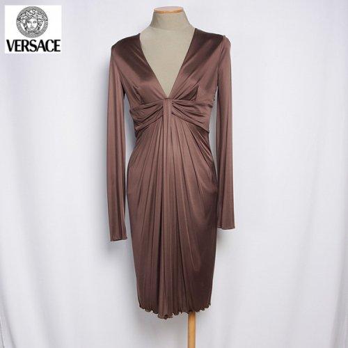 【送料無料】 ヴェルサーチ(Versace) ドレス ワンピース 0946451 150 VER ブラウン