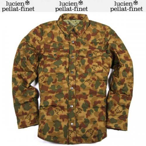 【送料無料】 ルシアン ペラフィネ(lucien pellat-finet) メンズ カモフラージュ スカル ダウンシャツ YMP 370H AS SAMPLE 15A