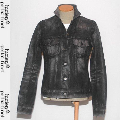 【送料無料】ルシアンペラフィネ(lucien pellat-finet) レディース ジャケット 長袖 オイルコーティング DE40F BRUME BLACK COATING ブラック 黒