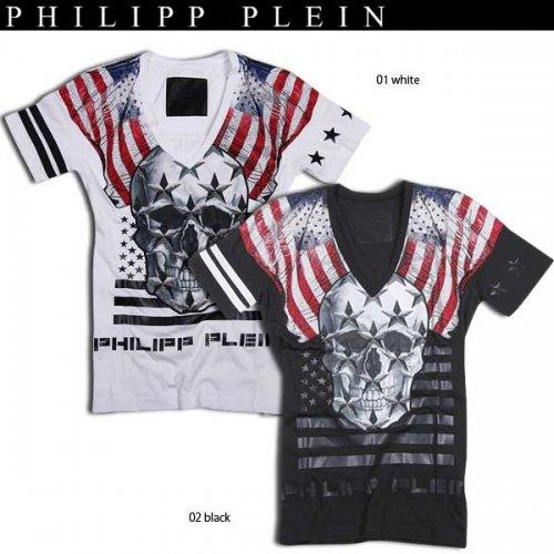 【送料無料】 フィリッププレイン(PHILIPP PLEIN) メンズ スカル 半袖 Tシャツ