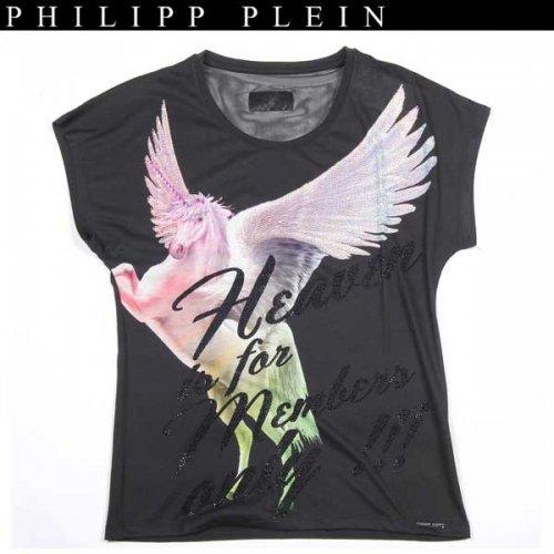 【送料無料】 フィリッププレイン(PHILIPP PLEIN) レディース スワロフスキー 半袖 カットソー Tシャツ