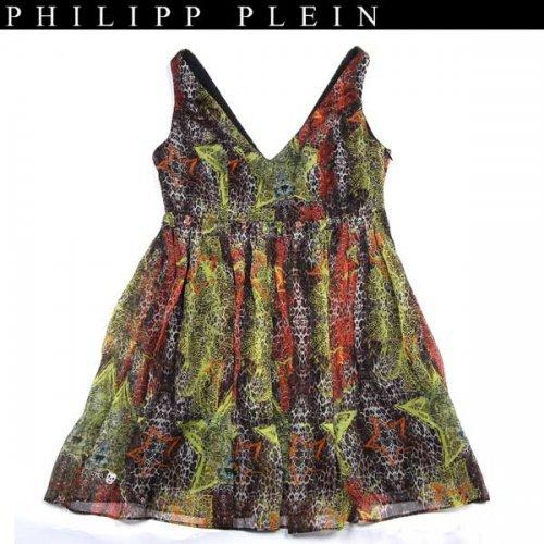 【送料無料】 フィリッププレイン(PHILIPP PLEIN) レディース シルク ドレス ワンピース