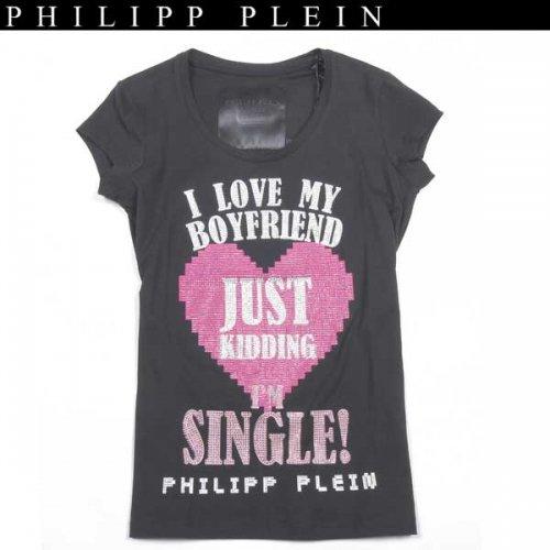 【送料無料】 フィリッププレイン(PHILIPP PLEIN) レディース ラインストーン 半袖 Tシャツ CW341055