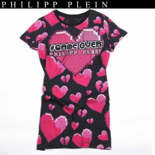 【送料無料】 フィリッププレイン(PHILIPP PLEIN) レディース ラインストーン 半袖 Tシャツ CW341173