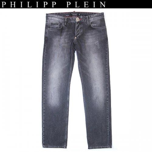【送料無料】 フィリッププレイン(PHILIPP PLEIN) メンズ バックポケットブラックジーンズ straight surpreme