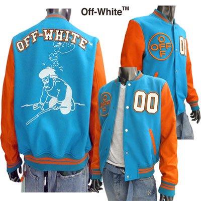 オフホワイト(OFF-WHITE) メンズ LEATHER VARSITY JACKET スタジャン 刺繍 マルチカラーOMJA020E 19030027 3688 GB91S