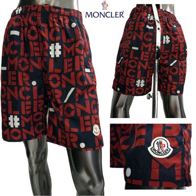 <img class='new_mark_img1' src='//img.shop-pro.jp/img/new/icons15.gif' style='border:none;display:inline;margin:0px;padding:0px;width:auto;' /> モンクレール(MONCLER) メンズ 総柄ブランドロゴ・スモールロゴワッペン付きハーフパンツ 1350405 539L1 778 GB91S